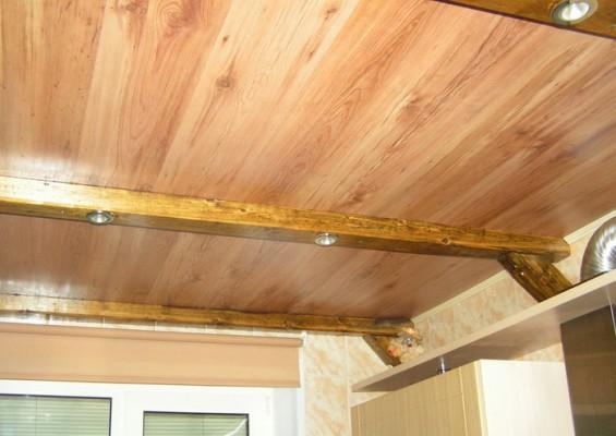 укладываем ламинат на потолок