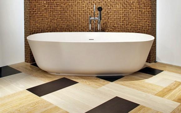 плитка пвх на полу в ванной