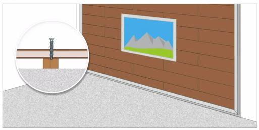 Как повесить картину на стену из ламината